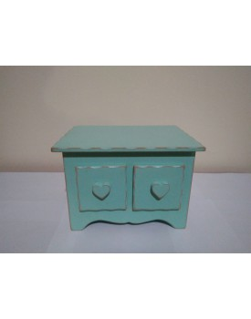 Mini Comoda Azul Tiffany  2 gavetas