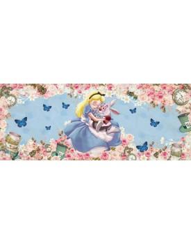 Tecido Sublimado  Alice no país das Maravilhas 4,00 x 2,40 de altura