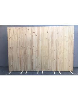 Placa Painel de Madeira Pinus Cru 0,80 comprimento  x 2,20 de altura
