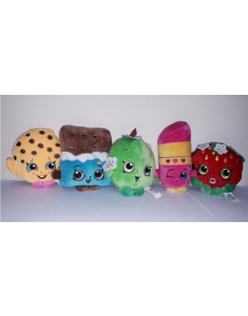 Kit 5 pelúcias Shopkins