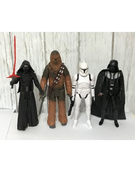 Kit 4 personagens Star wars