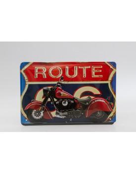 Placa metálica Route Moto