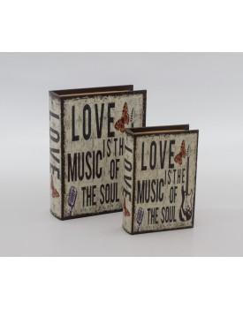 Duo de Livros Love Music