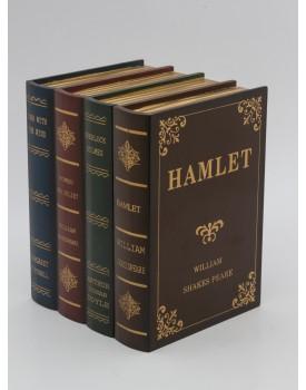 Livro caixa Vintage ( Peça com 4 livros )