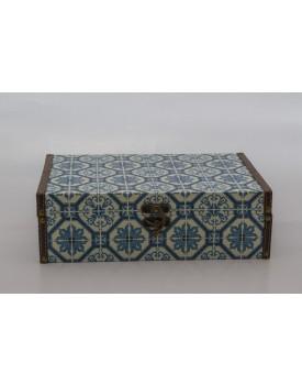 Caixa estilo azulejo Tam M