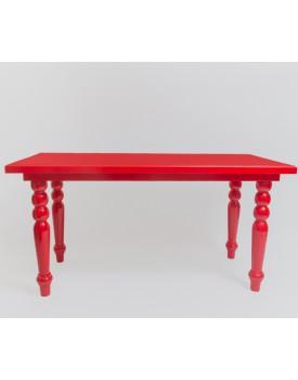 Mesa de Madeira vermelha de 1,60 x 70 x 80