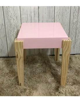 Mesa de Canto rosa quadrada Tam P