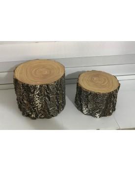 Bandeja Tronco de árvore Alto Tam M