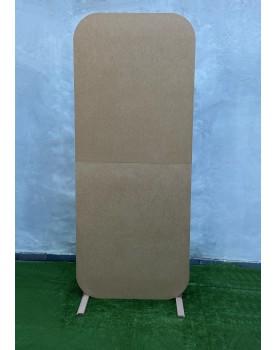 Painel Bipartido com borda arredondada 2,20 altura  x 90 cm  ( Pintamos na sua cor )