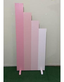 Painel Escada Degrade Rosa