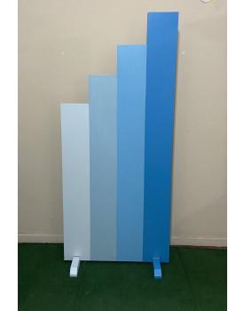 Painel Escada Degrade azul