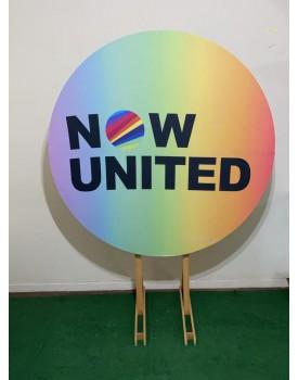 Combo Capa Now United + Estrutura Circular 1,50 x 1,50