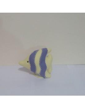 Peixinho amarelo com roxo de feltro