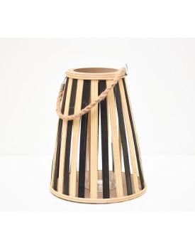 Lanterna / Porta vela de bambu duo color