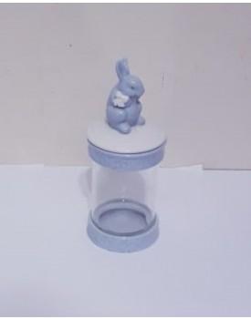 Pote Decorativo Coelhinho Azul