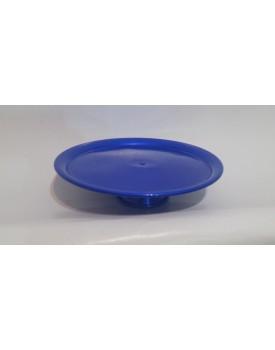 Prato com pé em alumínio  azul royal  M