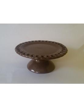 Prato Marrom Claro elo cerâmica Tam P