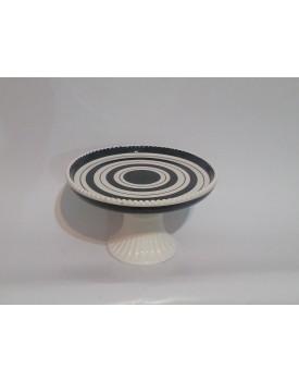 Prato espiral Preto e Branco M