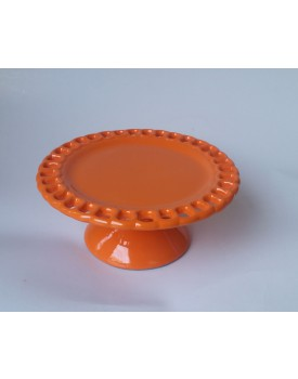 Prato laranja  elo cerâmica Tam P