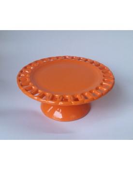 Prato laranja  elo cerâmica Tam M