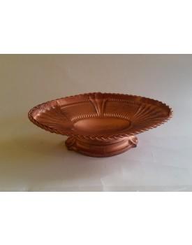 Prato de ferro rústico Oval   cor Cobre