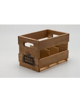 Caixotinho rústico cerveja Stella Artois - Boteco
