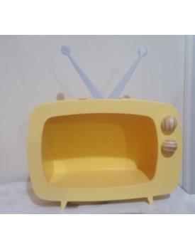Televisão de mdf Amarela